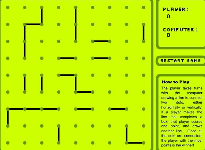 Игра Коробки и точки онлайн