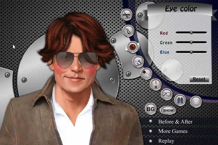 Игра Одевалка Джонни Депп онлайн