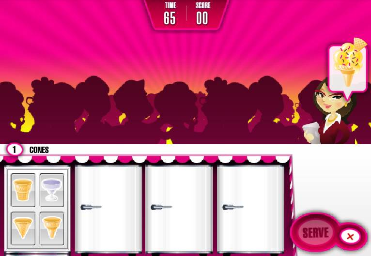 Игра Салон Мороженого онлайн