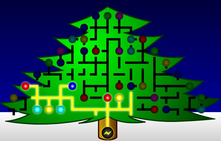 Игра Святящаяся рождественская елка онлайн