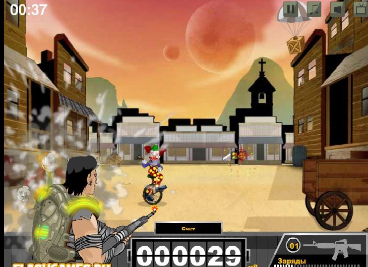 Игра Clown Carnage онлайн