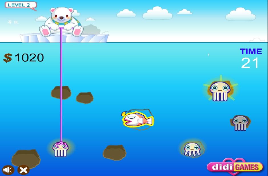 Игра Squid Fishing онлайн