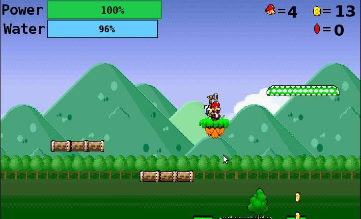 Игра Super Mario Sunshine 64 онлайн