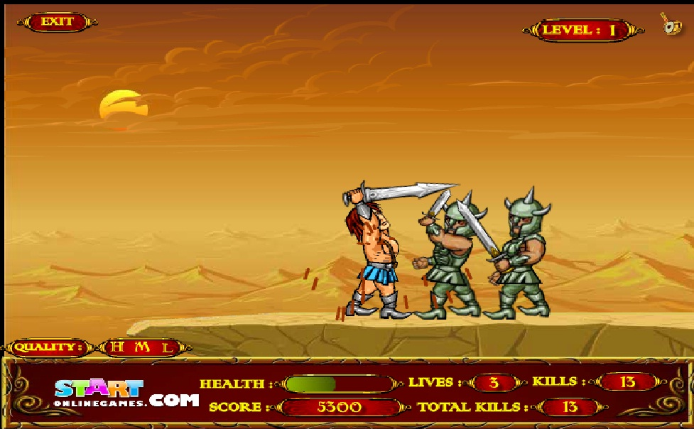 Игра Epic Warrior (Эпический воин) онлайн