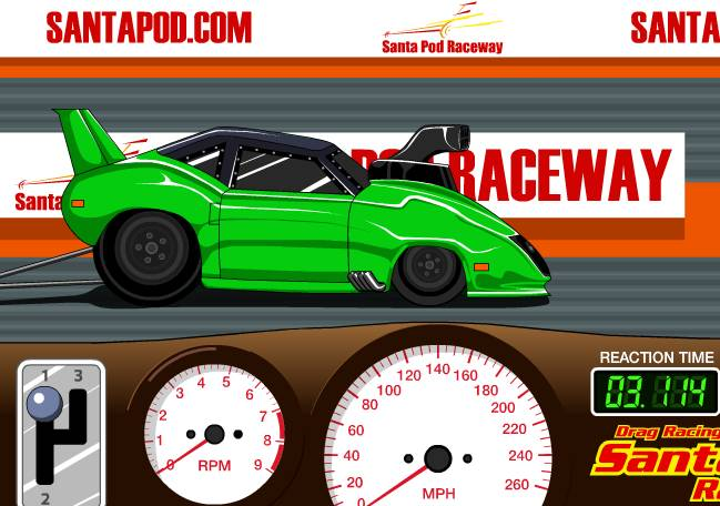 Игра Santa Pod Racer онлайн