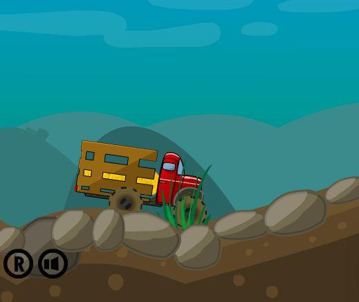 Игра Доставка сена на грузовике онлайн