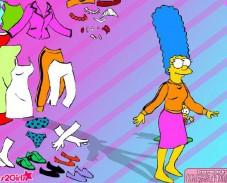 Игра Мардж Симпсон одевалка онлайн