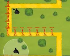 Игра Stickman Tower Defense онлайн
