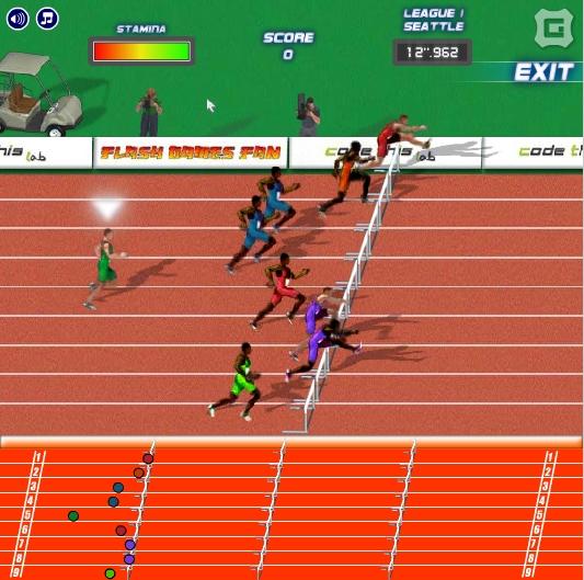 Игра Hurdles — Road to Olympic Games онлайн