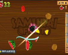 Игра Samurai Fruits (Самурай фрукты) онлайн