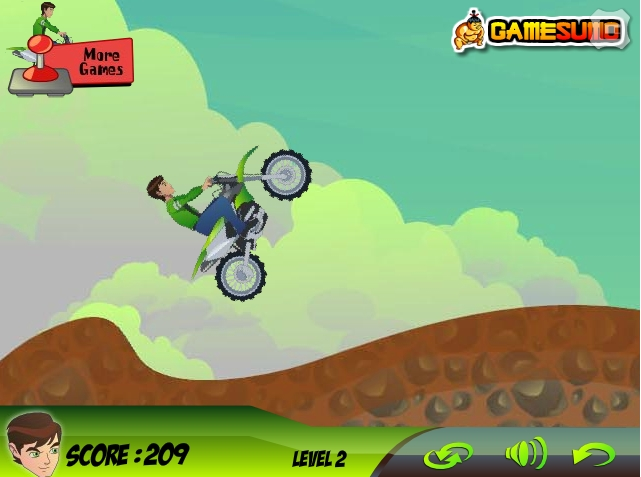 Игра Ben 10 Planet Rider онлайн