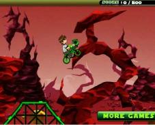 Игра Ben10 BMX Stunt Game онлайн