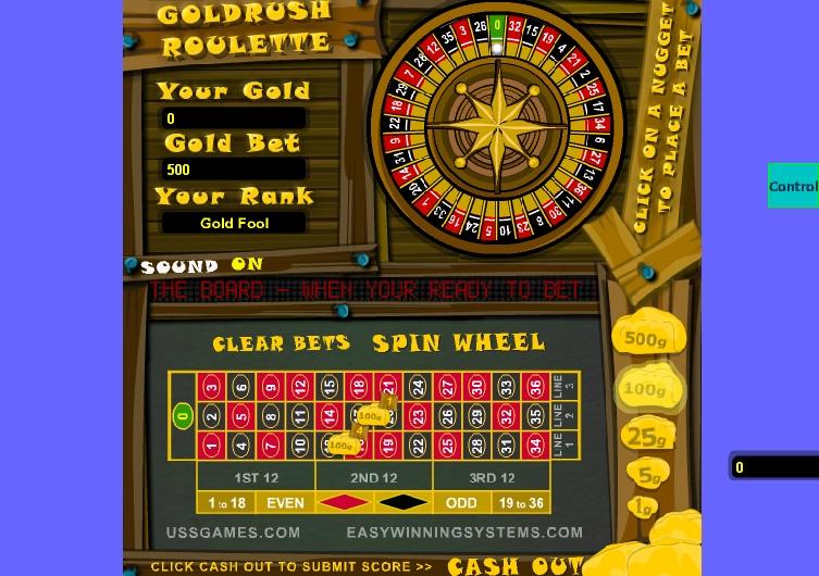 Игра GoldRush Roulette онлайн