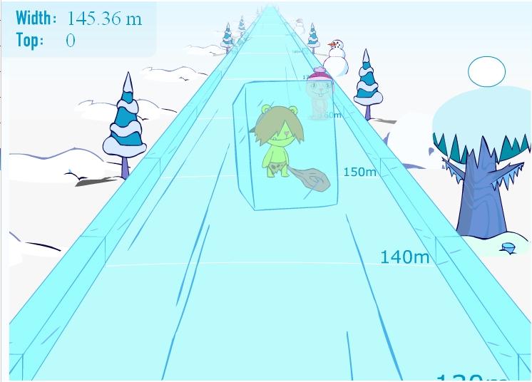 Игра Ice slide онлайн