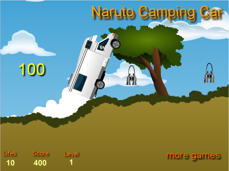 Игра Naruto Camping Car онлайн