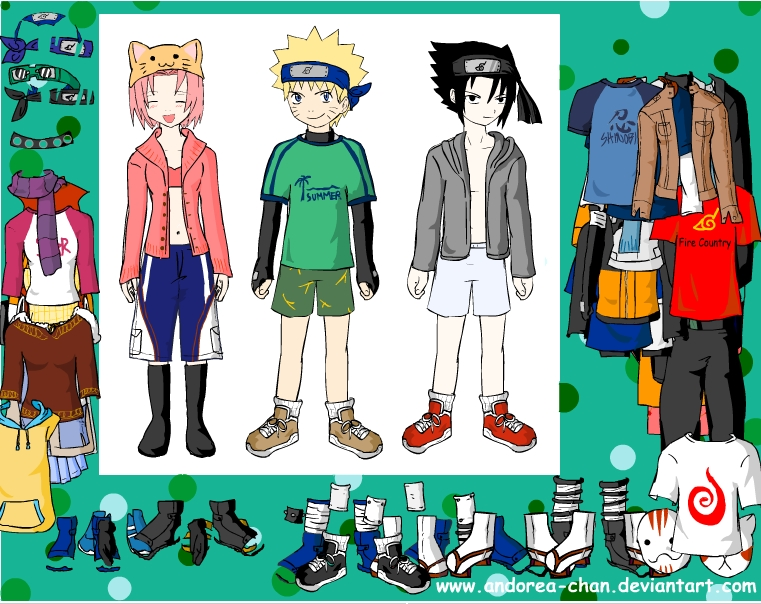 Игра Naruto Character Dressup онлайн