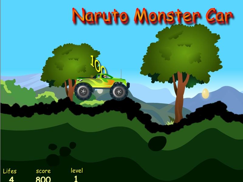Игра Naruto Monster Car онлайн