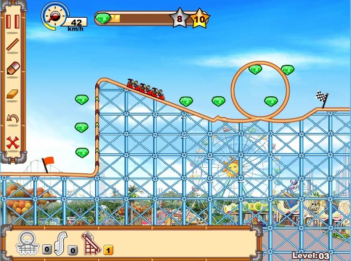 Игра Rollercoaster Creator 2 онлайн