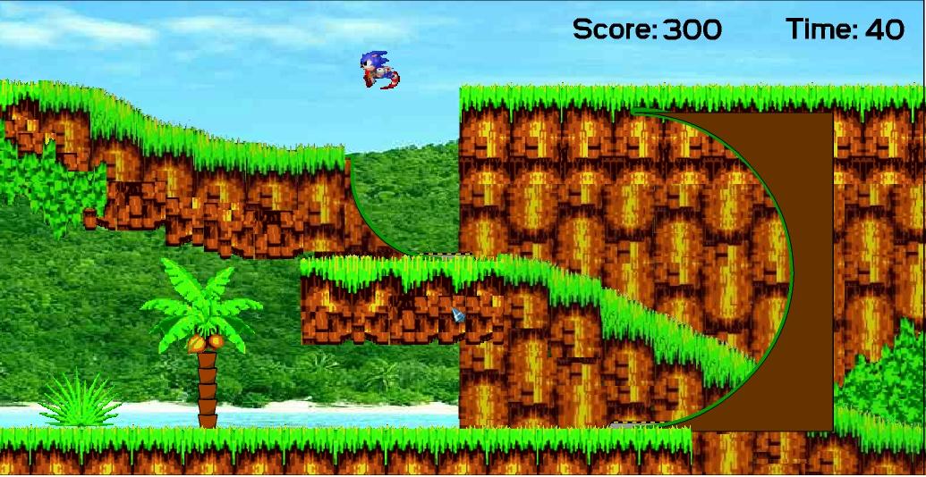 Игра Sonic In Angel Island онлайн