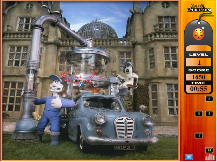Игра Wallace & Grommit Find the Numbers онлайн