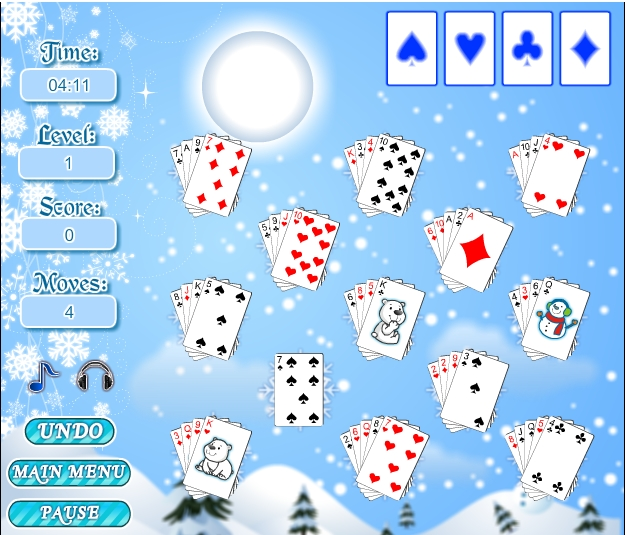 Игра Winter Solitaire онлайн