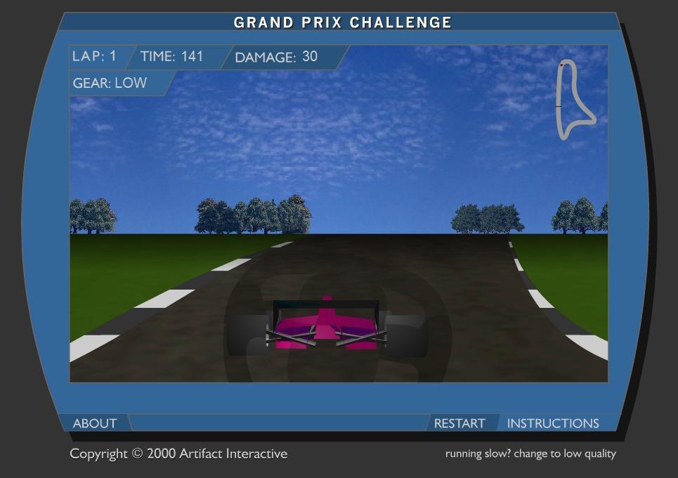 Игра Большие гонки онлайн