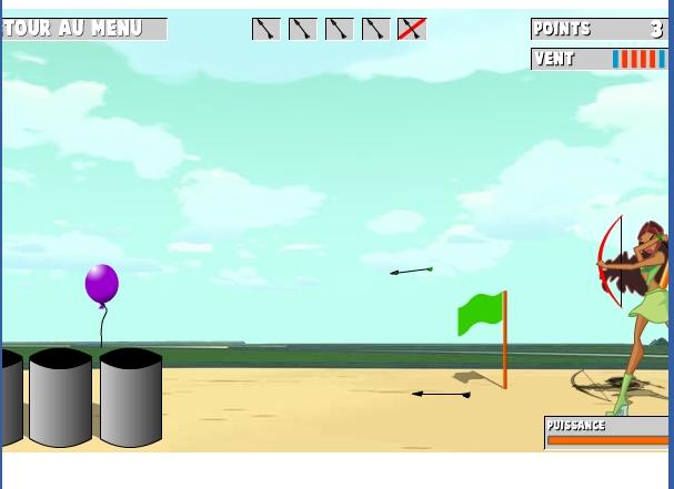 Игра Винкс — Стрельба из лука онлайн