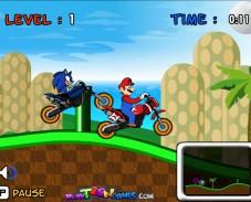 Игра Гонки Марио против Соника онлайн