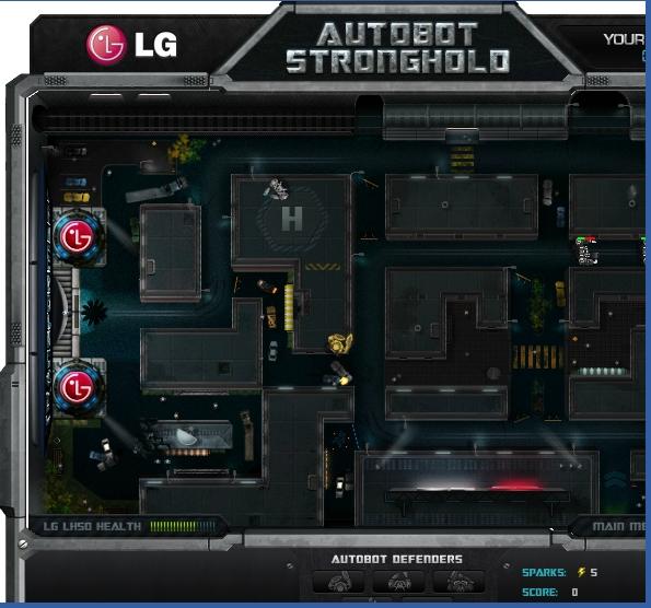 Игра Защита — Трансформеры онлайн