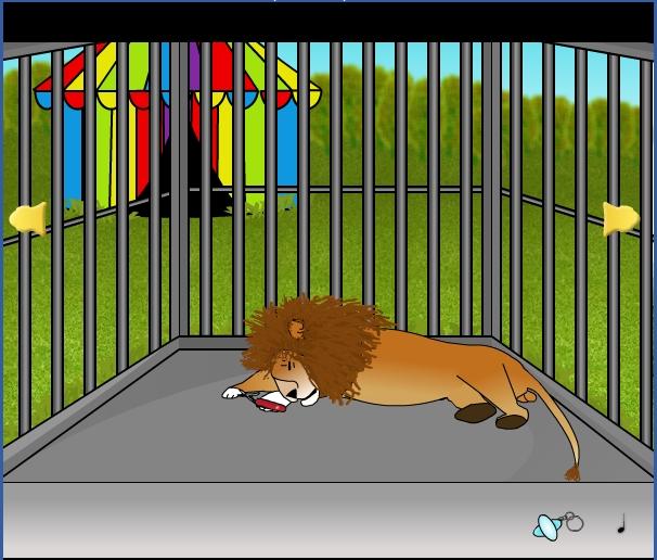 Игра Клетка со львом онлайн