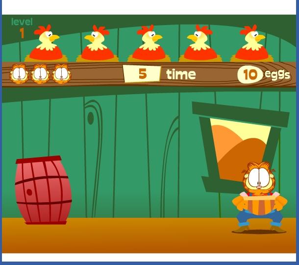 Игра Кот Гарфилд онлайн