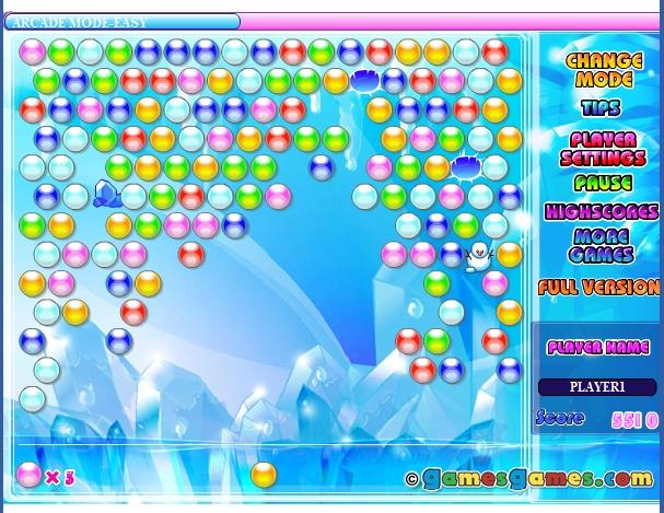 Игра Ледяные шары онлайн