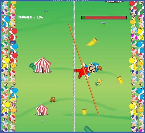 Игра Марио в цирке онлайн