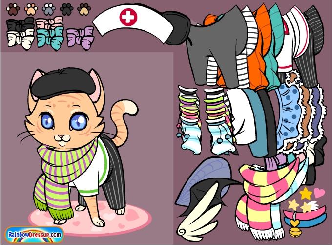 Игра Модный котенок онлайн