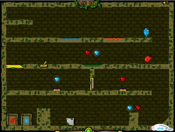 Игра Огонь и вода 3: В лесном храме онлайн