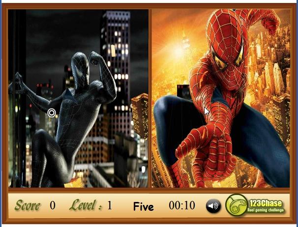 Игра Одинаковые разные Человек Паук онлайн
