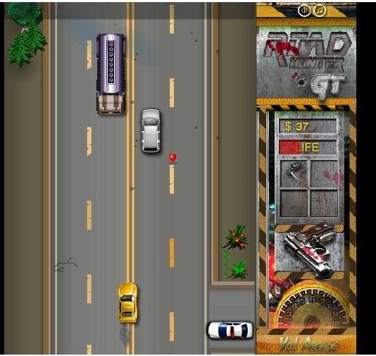 Игра Охотник на дороге онлайн