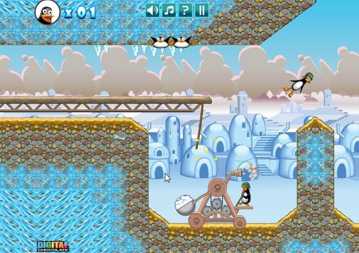 Игра Пингвинья катапульта онлайн