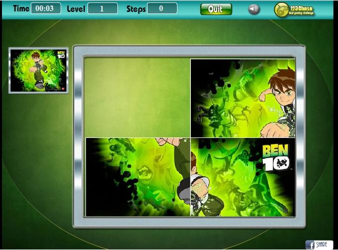 Игра Пятнашки Бен-10 онлайн