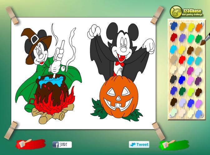 Играть бесплатно в флеш игру Раскраска Микки Маус - играй ...