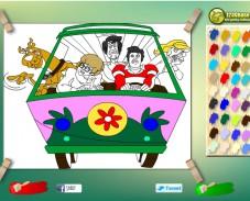 Игра Раскраска Скуби Ду онлайн