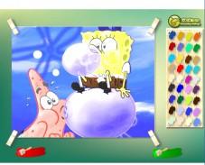 Игра Раскрась Боба и Патрика онлайн