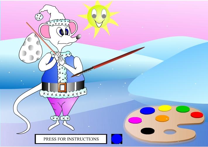 Играть бесплатно в флеш игру Раскрась мышку - играй онлайн