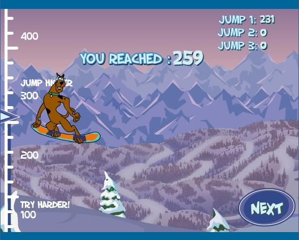 Игра Сноубордист — Скуби Ду онлайн