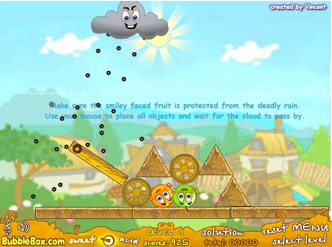 Играть бесплатно в флеш игру Спаси Апельсин - играй онлайн