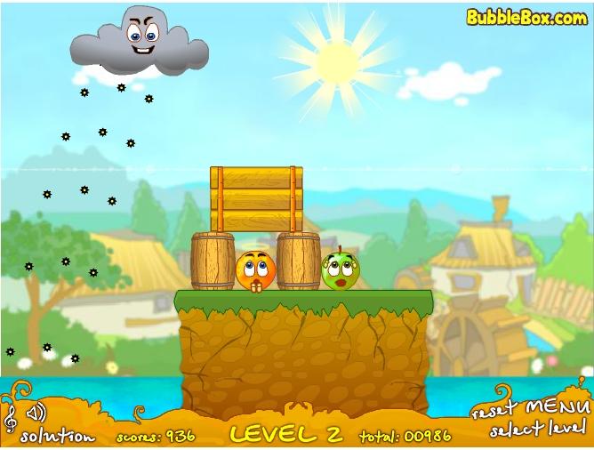 Игра Спаси апельсин 2 онлайн