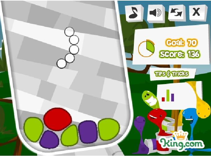 Игра Цветные кляксы онлайн