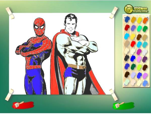 Игра Человек Паук и Супермен онлайн