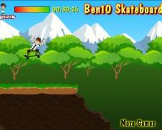 Игра Ben 10 Skateboard онлайн