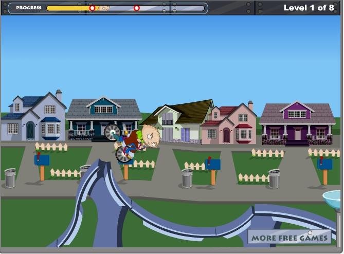 Игра Family Guy: Stewie Bike онлайн